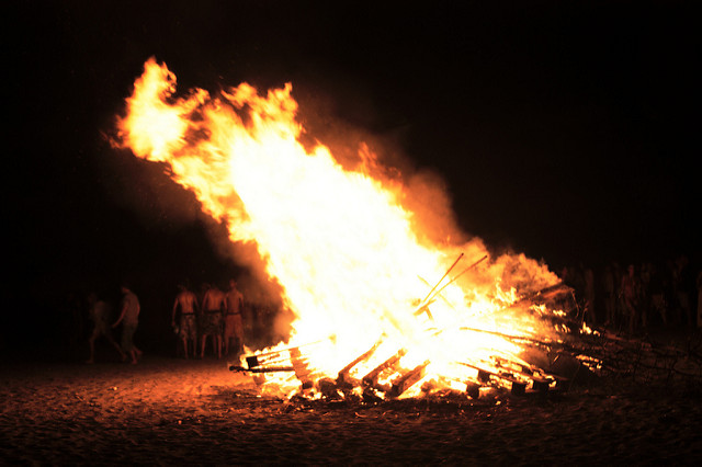 San Juan is celebrated with fire